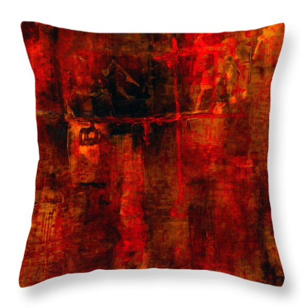 Red Odyssey Throw Pillow by Pat Saunders-White