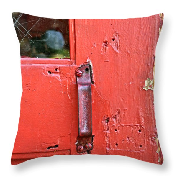 Red Of Course Throw Pillow by Gwyn Newcombe