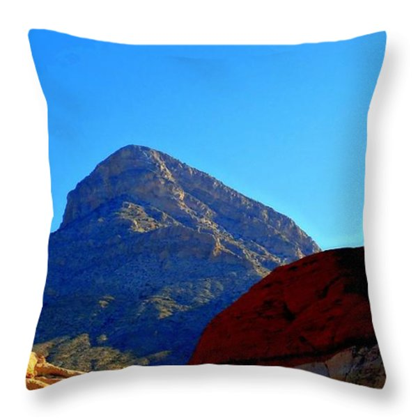 Red Rock Canyon 24 Throw Pillow by Randall Weidner