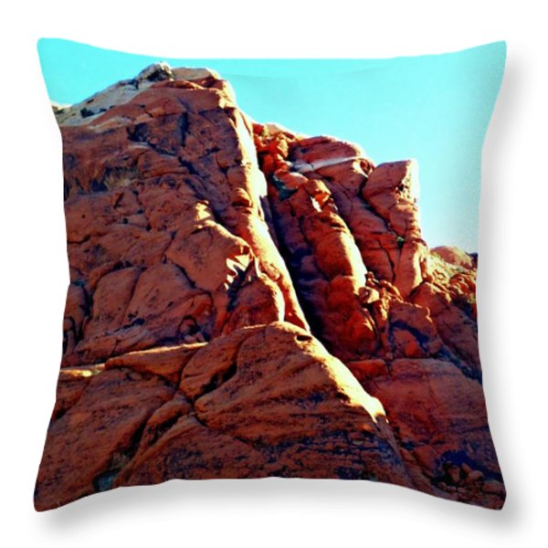 Red Rock Canyon 5 Throw Pillow by Randall Weidner