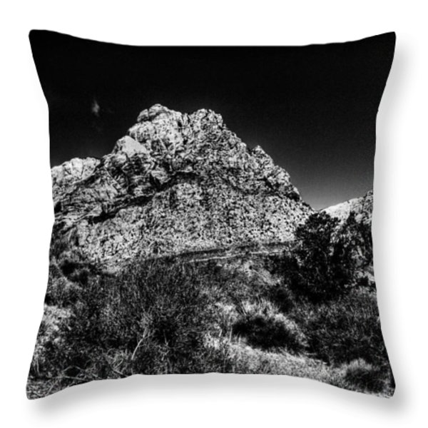 Red Rock Canyon at Spring Mountain Throw Pillow by David Patterson