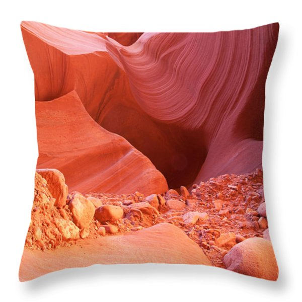Red Rock Gems Throw Pillow by Bob and Nancy Kendrick