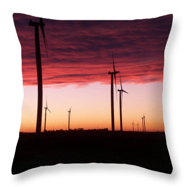 Red Skies Throw Pillow by Jim Finch