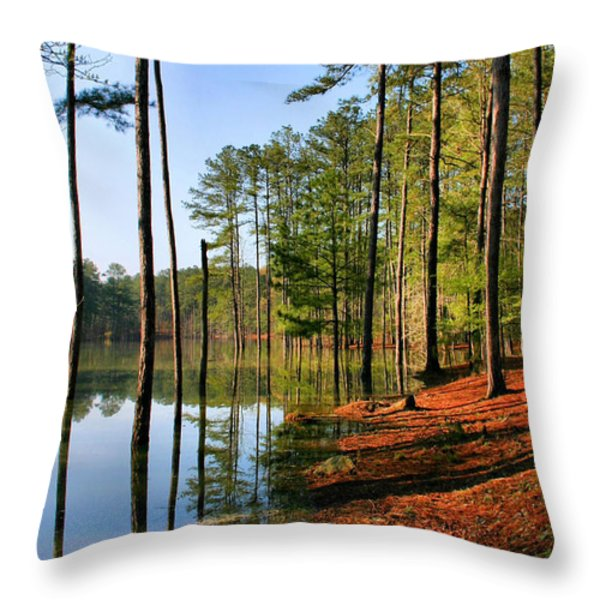 Red Top Mountain Throw Pillow by Kristin Elmquist