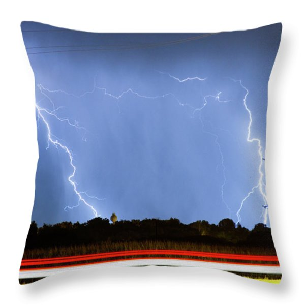 Red White And Blue Throw Pillow by James BO  Insogna