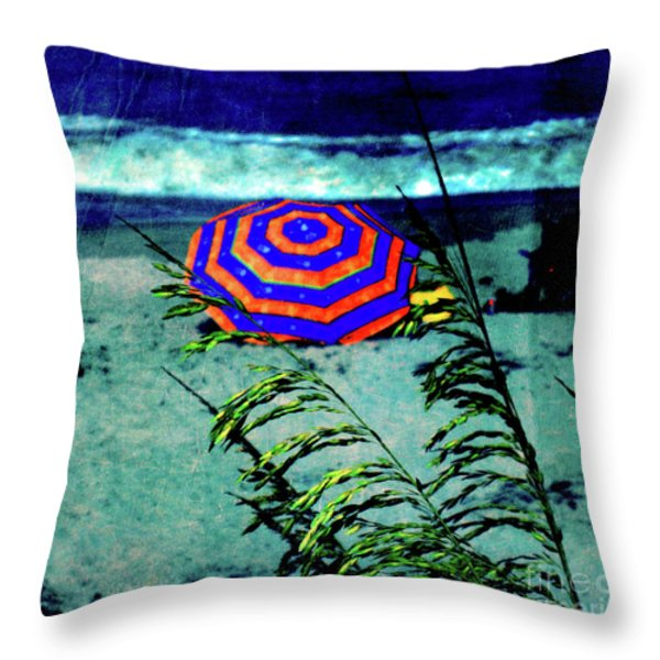 Red-White-Blue Throw Pillow by Susanne Van Hulst