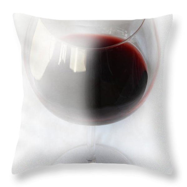 Red Wine Throw Pillow by Kume Bryant