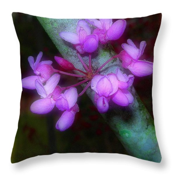 Redbud Throw Pillow by Judi Bagwell
