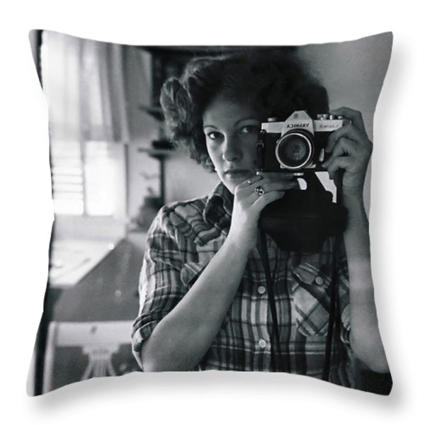 Reflecting Back Throw Pillow by Rory Sagner