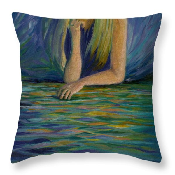 Reflecting On My Youth Throw Pillow by Joanne Smoley