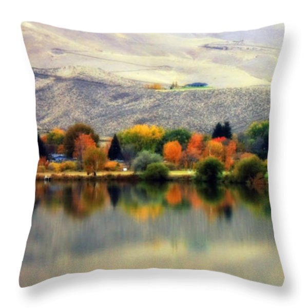 Reflection Of Fall In Prosser Throw Pillow by Carol Groenen