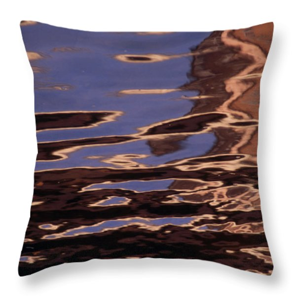 Reflection Patterns In The Waves Throw Pillow by Paul Damien