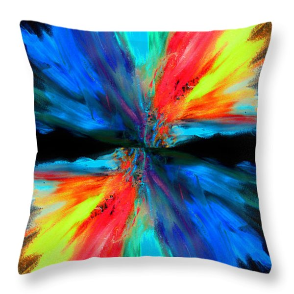 reflection Throw Pillow by Sumit Mehndiratta