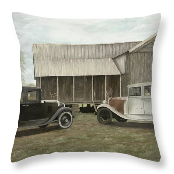 Reflections Of The Past Throw Pillow by Mary Ann King