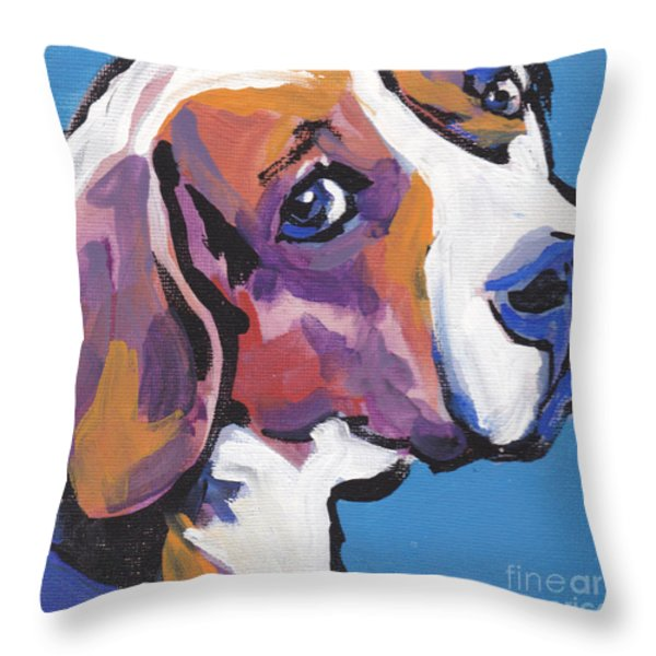 Regal Beagle Throw Pillow by Lea