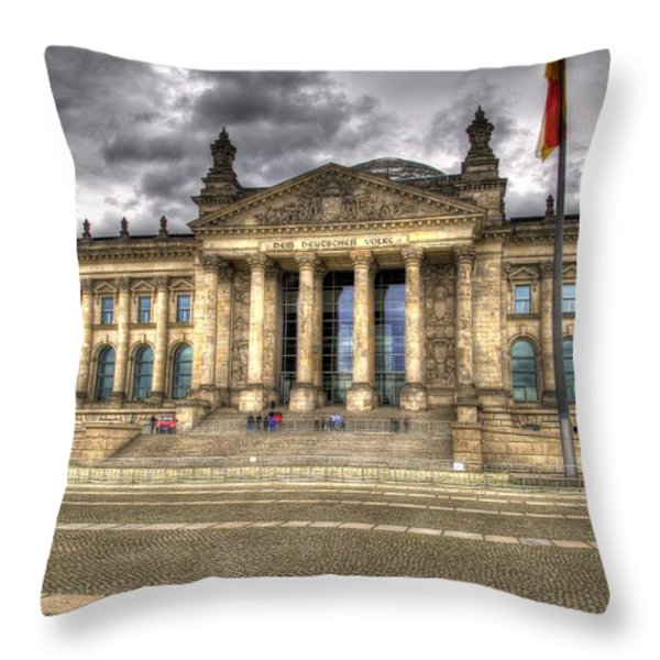 Reichstag Building  Throw Pillow by Jon Berghoff
