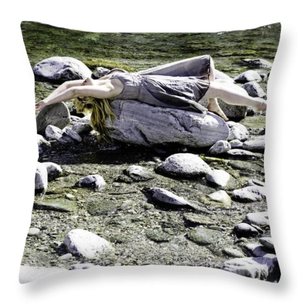 Relax Throw Pillow by Joana Kruse