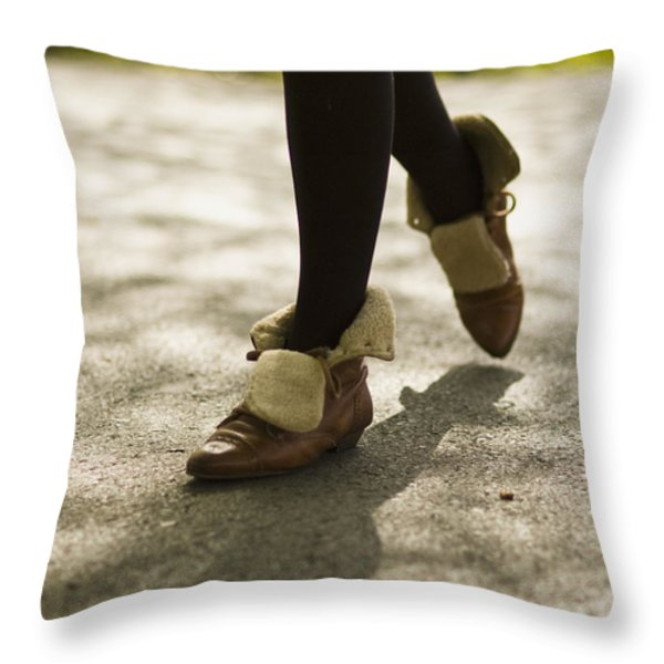 Relaxed Step Throw Pillow by Marcio Faustino