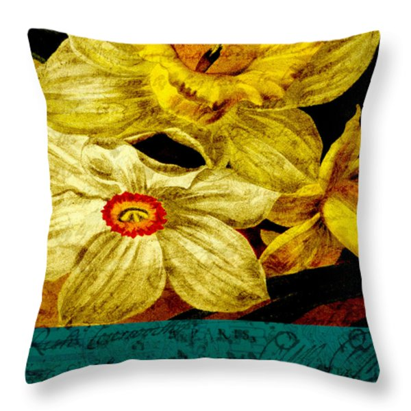 Remembering Throw Pillow by Bonnie Bruno