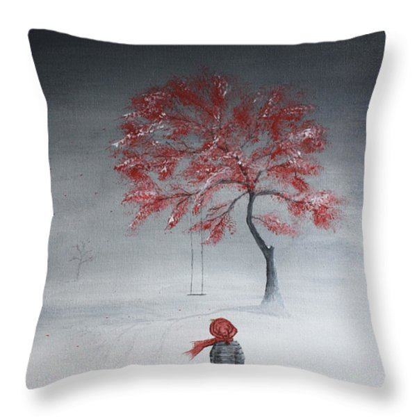 Remembering Summer Throw Pillow by Gray  Artus