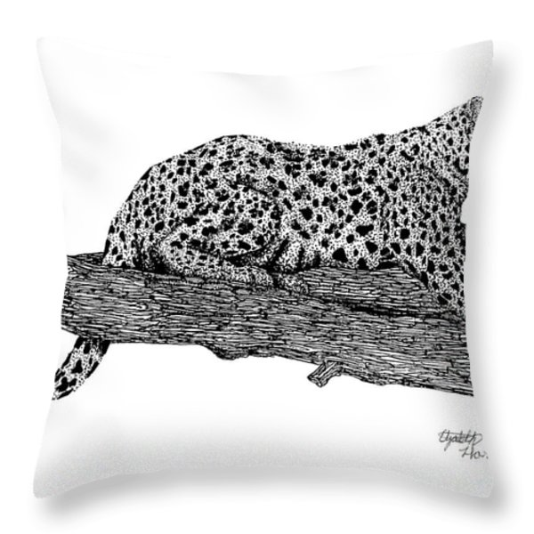 Resting Days Throw Pillow by Elizabeth Harshman