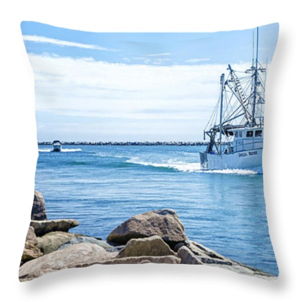 Return Throw Pillow by Joan Carroll