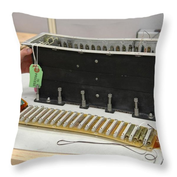 Return To Flight Sensor Tests Throw Pillow by NASA / Kennedy Space Center