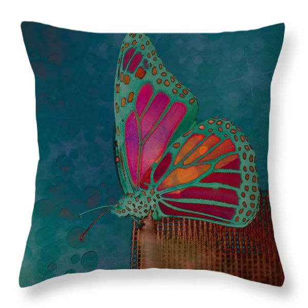 Reve de Papillon - s04bt02 Throw Pillow by Variance Collections