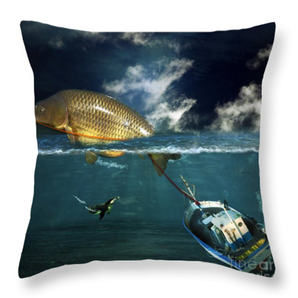 Revenge Throw Pillow by Martine Roch