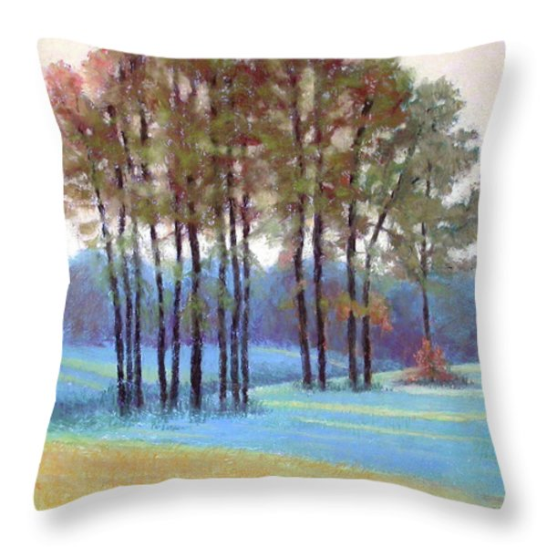 Ribbons of Light Throw Pillow by Julie Mayser