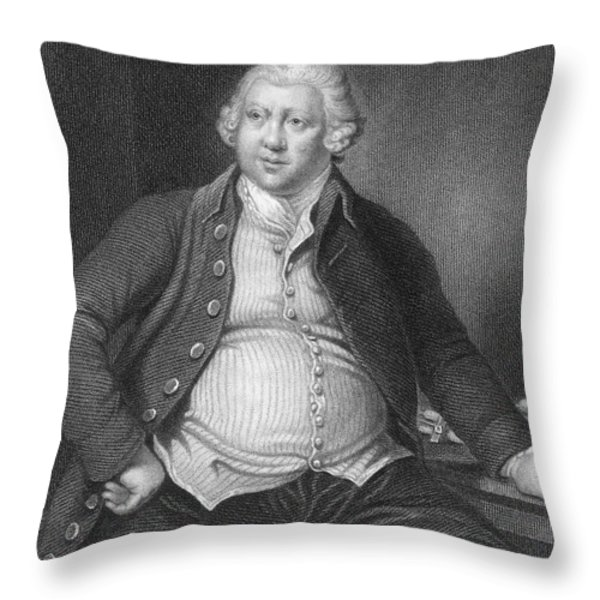 Richard Arkwright, English Industrialist Throw Pillow by Photo Researchers
