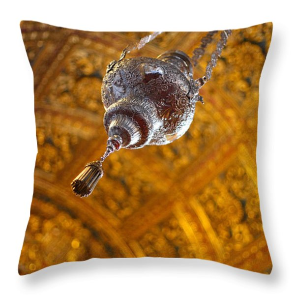 Richly Decorated Ceiling Throw Pillow by Gaspar Avila