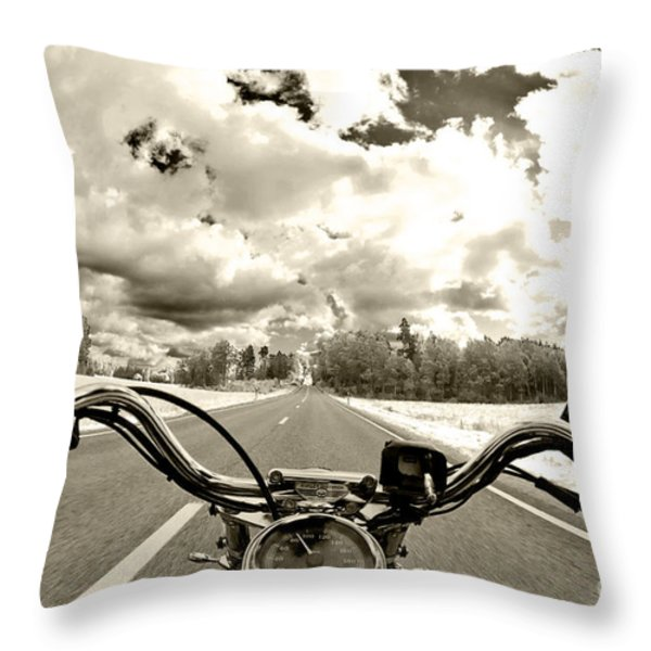 Ride Free Throw Pillow by Micah May