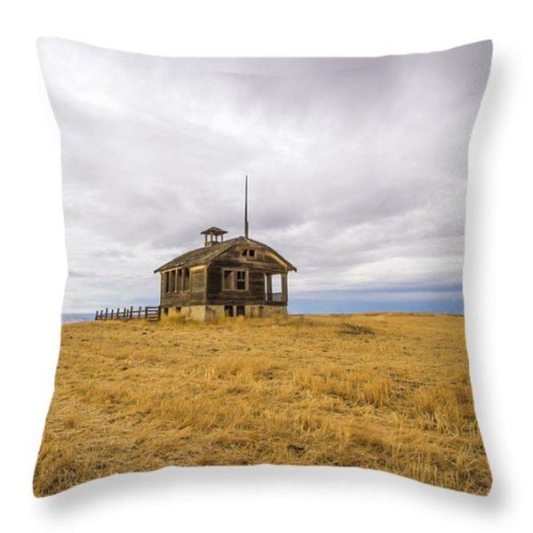Ridge Top School Throw Pillow by Jean Noren