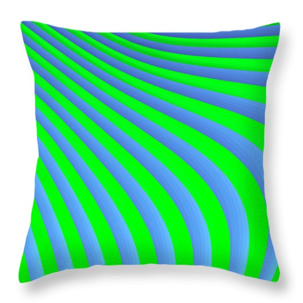Riding The Wave Throw Pillow by Carolyn Marshall