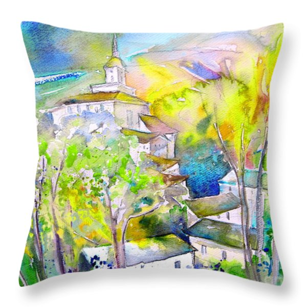 Rioja Spain 04 Throw Pillow by Miki De Goodaboom