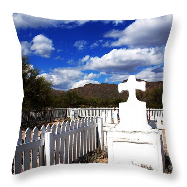 R.i.p. In Old Tuscon Az Throw Pillow by Susanne Van Hulst