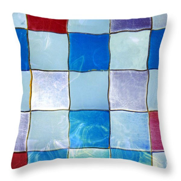 Ripple Tiles Throw Pillow by Carlos Caetano