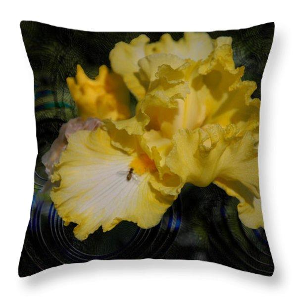 Rippling Iris Throw Pillow by Kelly Rader