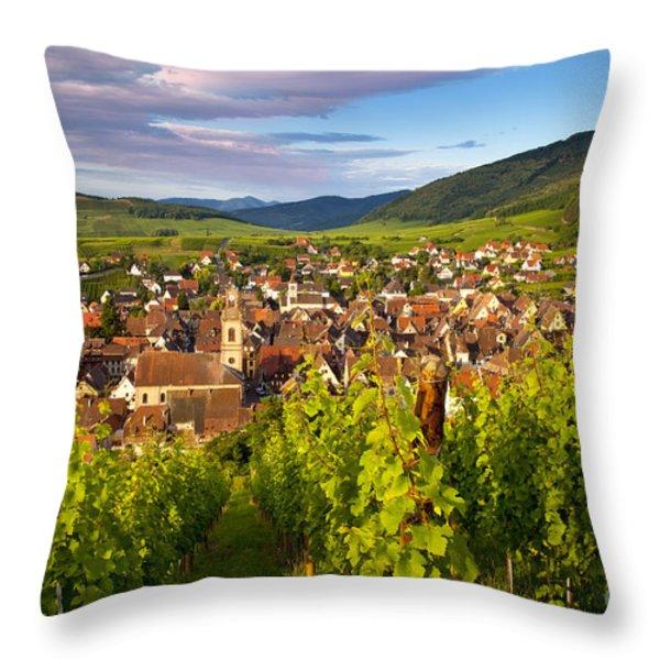 Riquewihr Alsace Throw Pillow by Brian Jannsen