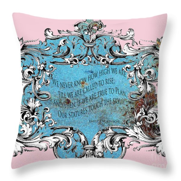 Rise to the Sky Throw Pillow by adSpice Studios
