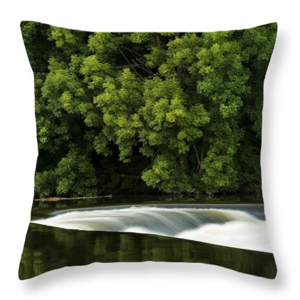 River Boyne, County Meath, Ireland Throw Pillow by Peter McCabe