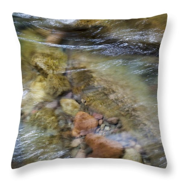 River Rocks Throw Pillow by Jenna Szerlag
