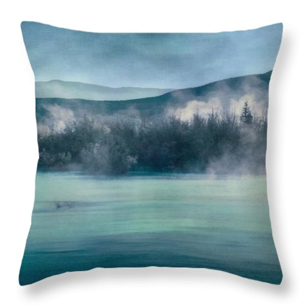 river song Throw Pillow by Priska Wettstein