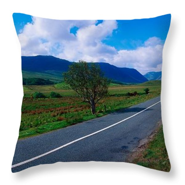 Road From Westport To Leenane, Co Mayo Throw Pillow by The Irish Image Collection