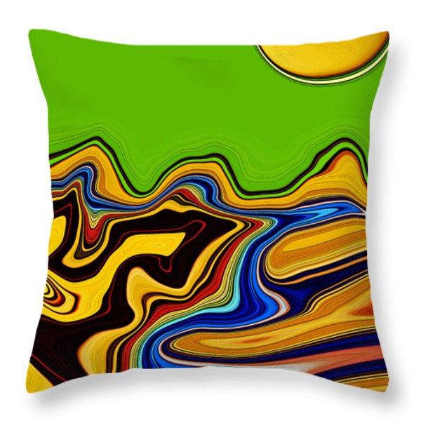 Road To Mars Throw Pillow by Molly McPherson