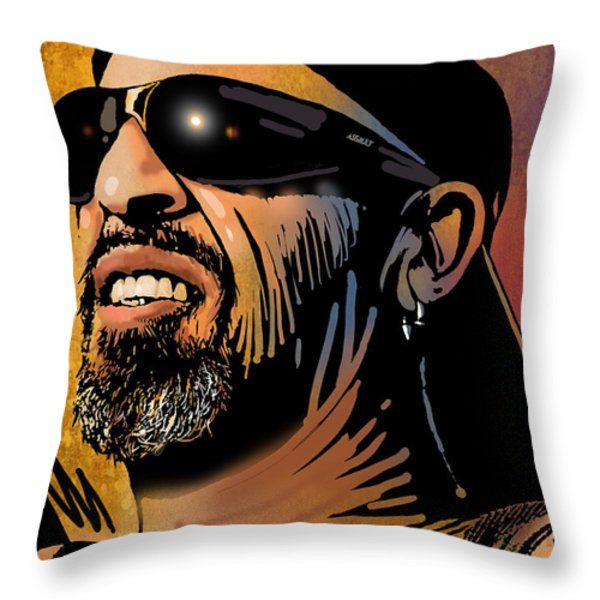Rob Throw Pillow by Paul Sachtleben