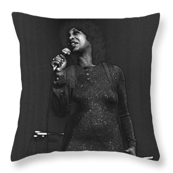 Roberta Sweed Throw Pillow by Dragan Kudjerski