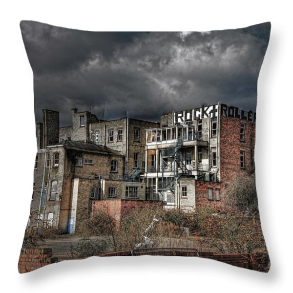 Rock And Rollers Throw Pillow by Yhun Suarez