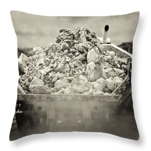 Rock Throw Pillow by Patrick M Lynch
